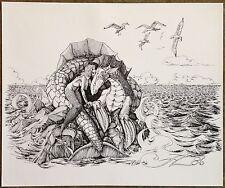 "Joel A Leib ""Mermaid & Dragon"" S/N Ltd Ed Illustration Print #06/50"