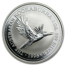 1996 1 oz Silver Australian Kookaburra Coin