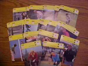 40 1979 Sportscaster Arnold Palmer Nicklaus Irwin Watson Lopez Golf Photo Cards