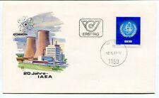 1977 Ersttag 20 Jahre IAEA Atomwerk Wien Republik Osterreich SPACE NASA