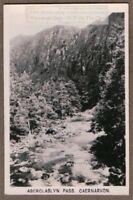 "Aberglaslyn Pass ""Caernarvon Beddgelert Wales England 1930s Ad Trade Card"