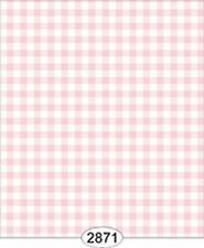 Dollhouse 1:12 Scale Wallpaper - Tea for Two - Check Pink Light