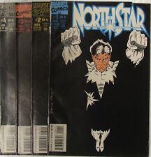 Marvel Comics Nortstar set lot of 4 books.  Alpha Flight