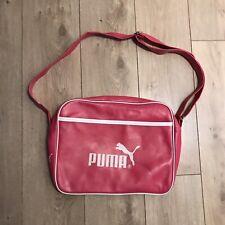 Puma Vintage Messenger Bag Shoulder Bag Pink Marks Vintage Retro