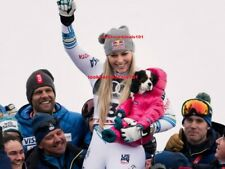 LINDSEY VONN PHOTO 8X10 Are Championships 2019 Last Downhill Run Skiing Bronze