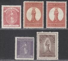 British Virgin Islands 1887-89 QV Selection to 1sh Mint