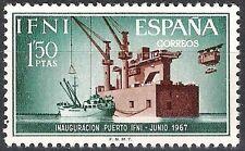 Colonias españolas Ifni 1967 Puerto instalación Sidi cayeron nave 229 Fine estampillada sin montar o nunca montada