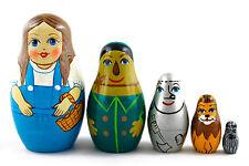 Wonderful Wizard of Oz Matryoshka Russian Nesting Dolls Matrioska 5 Pcs