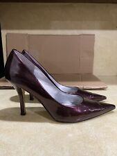 Nine West Womens Size 10 M Heels Pumps Point Toe  Burgundy