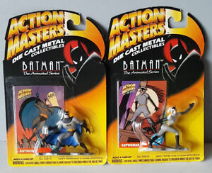 BATMAN & CATWOMAN - Action Masters Die Cast Metal Kenner 1994 FREE Shipping!