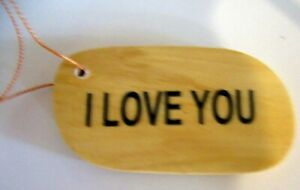 """TIMBER """"I LOVE YOU"""" GIFT TAGS! PERSONALISE THEM TO TIE ON A SPECIAL GIFT!"""