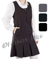Vestido Escolar para Niñas Pinafore Gris Negro Azul Marino Delantero
