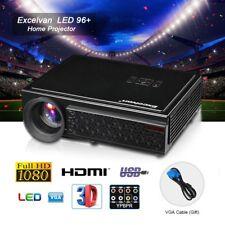 Excelvan 96+ Beamer 1080P HD LED Heimkino Projektor 3D 5000Lumens HDMI USB VGA