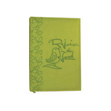 """Brand New Lime Green Immitation Leather Religious """"Rejoice in the Lord"""" Journal"""