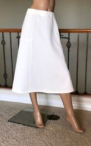 UNIQLO U LEMAIRE WOMEN OFF WHITE JERSEY FLARED SKIRT NWT SIZE L