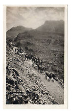Coach and Horses - Honister Pass Real Photo Postcard 1924 G P Abraham