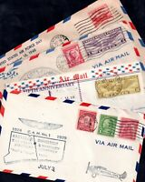 USA First Flight Cover collection 1929-1964 x 8 covers WS12259