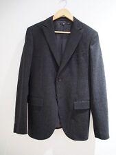 UNIQLO + J Jil Sander Lemaire Costume + J Darky gris flanelle de laine Sui Blazer SZ 38R