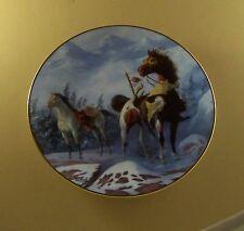 The Warrior's Pride SHOSHONI WAR PONIES Plate Native American Indian DeHaan
