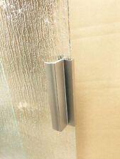 Brashed Nickel Frameless Shower Door Handle with Metal Strike