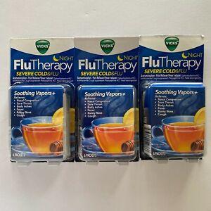 Vicks Flu Therapy Night, Severe cold&flu Honey Lemon Tea 18 Total Exp 5/21