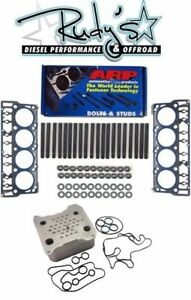 ARP Head Stud Kit Head Gaskets & Oil Cooler For 2008-2010 Ford 6.4L Powerstroke