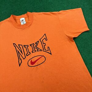 VTG 90S Nike BOOT BL Embroidered Center Swoosh Logo Check T Shirt Tee Mens XL