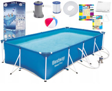 11in1 BestWay SWIMMING POOL 400 x211 Rectangular Garden Above Ground Pool + PUMP