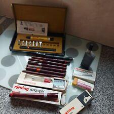 More details for vintage rotring technical drawing pen large bundle x13 pieces 1x staedtler pen