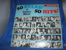 50 STARS OF COUNTRY MUSIC (50 HITS) 2 VINYL LP RECORDS EXCELLENT[INV-36]