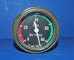 Vintage Hot Rod Rat Rod Dash Oil Pressure Gauge AC Spark Plug Div W/Warranty