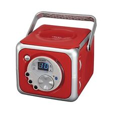 Jensen Cd-555 Red Cd Bluetooth Boombox Portable Bluetooth Music System with C.