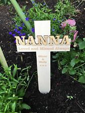 Personalised NANNA Memorial Remembrance Cross Funeral