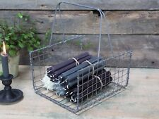 Industrial Vintage Retro Style Wire Mesh Log Basket Magazine Rack Hearth Storage