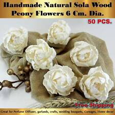 50 Handmade Peony Sola Flowers Diffuser Craft Wedding Bouquet Natural Decor
