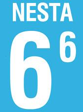 ITALIA NESTA NAMESET 2002 SHIRT CALCIO Numero Lettera di calore stampa Football Home