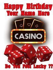 Lucky Casino Las Vegas cptmi15 Happy Birthday Card A5 Personalised Greetings