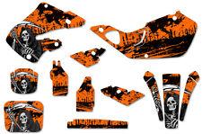 Honda CR125 98-99 CR250 97-99 Dirt Bike Graphic Kit Decal Sticker Wrap REAP ORNG