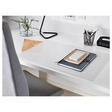 IKEA SKVALLRA Home Office Study Room Plastic Desk Pad 38 x 58cm Half Transparent