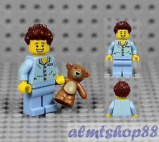 LEGO - Sleepyhead Minifigure w/ Teddy Bear (Custom) - Sleepy Boy Series 6