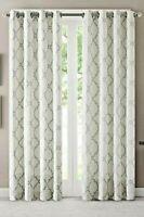 NEW Madison Park Saratoga Window Curtain 1 Panel Top Drapes/Valance,50x108 Ivory