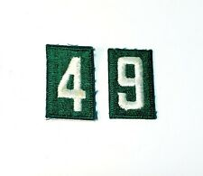 Vintage Girl Scout Uniform Number Patches Lot Of 2 Unused