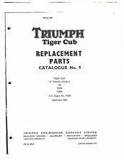 Triumph Parts Manual Book 1964 Tiger Cub T20, T20SS & T20SH