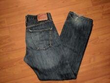 Lucky Brand Men's 221 Original Straight Distressed Medium Wash Jeans -34X32