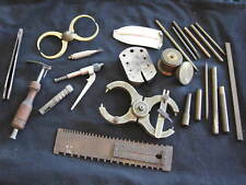 Vintage Lot Jewelers Watch Tools -Brass Rods,Calipers,Mainspring Gauge,Anvil,etc