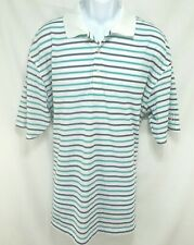 PGA Tour Polo Shirt Mens Size 2XLT Short Sleeve Pull Over Multi-Color Striped M1
