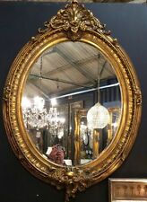 "Wooden Large (Greater than 24"") Oval Decorative Mirrors"