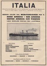 Z5355 Transatlantico Roma - Flotte Riunite Italia - Pubblicità d'epoca - 1932 ad