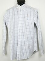 Polo Ralph Lauren Men's Size M White Plaid Long Sleeve Button Down Shirt EUC