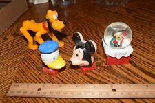 Vintage Mickey Mouse & Donald Duck Night Light Wall Plug Disney Figural Plastic+